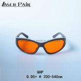 Glaces noires de protection d'oeil de laser de lunettes de sécurité de lasers de lentille de sport pour 266nm, 355nm, 515nm, 532nm etc.