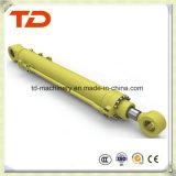 Cilindro do petróleo do conjunto do cilindro hidráulico do cilindro da cubeta de KOMATSU PC300-7 para peças sobresselentes do cilindro da máquina escavadora da esteira rolante