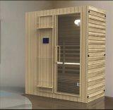 Quarto da sauna da madeira contínua (AT-8623)
