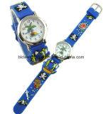 昇進のギフトのための安いシリコーン3Dの漫画バンド子供の腕時計