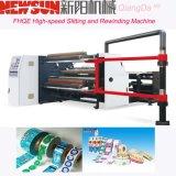 PVC Fhqe-1600 à grande vitesse fendant et machine de rebobinage