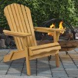 Adirondack 옥외 목제 의자 Foldable 안뜰 잔디밭 갑판 정원 가구