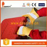 Polsino gommato di rinforzo della palma di Ddsafety 2017 di cotone dei guanti di cuoio della parte posteriore