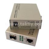 1000base-Fx zum Simplex-Faser-Media-Konverter des Ethernet-1000base-Tx