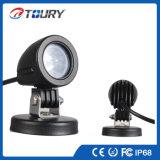 LED luz de conducción del trabajo de 10W LED se ilumina durante la motocicleta del carro