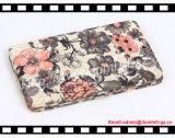 Mulheres das carteiras das mulheres do frame do metal da forma com impressão de seda da flor