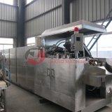Maquinaria coberta de chocolate do procedimento de fabricação da bolacha