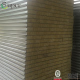 Baumaterial-vorfabriziertes Haus Rockwool Sandwichwand-Panel