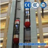 パノラマ式のエレベーターの観察のエレベーターの観察の上昇