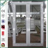 이중 유리를 끼우는 UPVC 단면도 두 배 창틀 여닫이 창 문 디자인