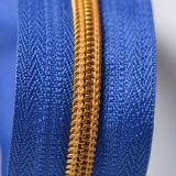Zahn-Nylon-Reißverschlüsse des geöffneten Enden-#5 goldene