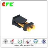 Conector de carregamento de bateria de mola com 2 pinos Contato com Cap Reel