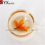 Singoli/di caffè mini di tè delle tazze tazza dell'alto Borosilicate elegante e piattino di vetro di vetro doppi 220ml