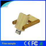 Диск оптового вращения 4GB Pendrive прямоугольного деревянного внезапный