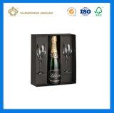 Rectángulo de empaquetado del vino de lujo de alta calidad para el empaquetado de la botella de vino (caja de embalaje del vino)