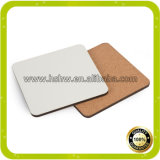 Blocs d'impression de sublimation personnalisée MDF Cork Wood Coasters