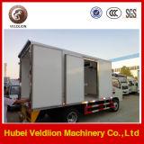 Performance van uitstekende kwaliteit Refrigerator Van Truck voor Gekoelde Vrachtwagen van de Ijskast van het Vlees en van Vissen 4X2 de MiniVrachtwagen