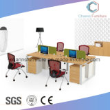 Luxury Furniture with Side Cabinet Wooden Office Workstation