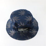 Chapéu grande personalizado da cubeta da borda com toda sobre a folha impressa tela