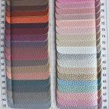 Кожа PU классицистического зерна Lychee синтетическая для бумажников Hx-B1731 мешков