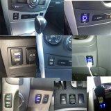 carregador do carro do USB 2.1A com medidor da tensão, soquete do carregador do USB da motocicleta