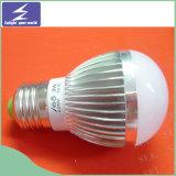 Luz de bulbo do diodo emissor de luz do alumínio + do plástico 5W E14/E27