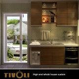 Preiswerter Melamin-Küche-Entwurf für vollständigen Haus-Möbel-Zoll Tivo-061VW