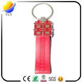 Chaîne principale de cuir véritable de porte-clés fait sur commande de mariage