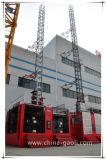 Grua elétrica da construção da gaiola do dobro da freqüência de Gaoli para a venda Scq120/120