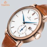 Reloj de acero del cuarzo de la alta calidad con la correa de cuero 72654