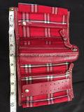 Ожерелье серьги пружинного кольца мешка крена ювелирных изделий перемещения LC Лиз Члаиборне красное