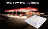 dispositivo elétrico de iluminação Recessed 130lm/W do diodo emissor de luz do posto de gasolina do posto de gasolina da luz do dossel do diodo emissor de luz 60W