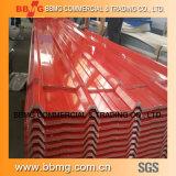 De het golf Dakwerk van het Aluminium/Gi Van de Tegel van de Golf zoals gevraagd Vooraf geverft van het steel/PPGI- Blad Rol Ral 1028 van het Staal PPGI Gele Meloen