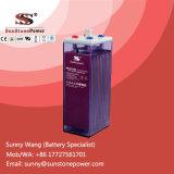 Placa tubular bateria solar acidificada ao chumbo inundada de baterias 2V 1500ah Opzs