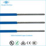 Alambre de alta temperatura aislado del cobre PTFE de cobre