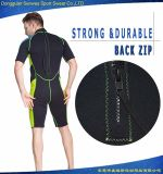 ネオプレンのダイビングのサーフのための背部ジッパーの不足分の袖の水泳の摩耗