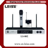 Microphone professionnel de radio de fréquence ultra-haute de karaoke des canaux Ls-802 doubles