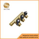 Collettore d'ottone della valvola della Cina 3 con la maniglia nera per il riscaldamento a pavimento