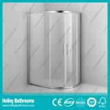 Casella di scivolamento dell'acquazzone del settore con il blocco per grafici della lega di alluminio ed il vetro Tempered (SE913C)