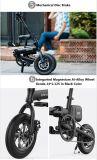 Motocicleta elétrica elétrica de dobramento da liga de alumínio da bicicleta
