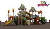Изготовления Китая спортивной площадки детей Kidsplayplay скольжение цветастого напольного пластичное (KP-B306)