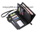 Многофункциональный бумажник Billfold муфты дела людей неподдельной кожи способа (CY3714)