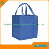 Asas de encargo barata promocional tejido laminado reciclable Bolsa No Tejido