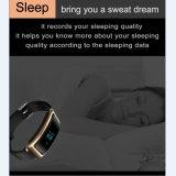 人間の特徴をもつ装置のための黒い革スマートな腕時計