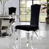 Ткань задней части максимума домашней мебели пурпуровая обедая стул