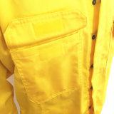 Vêtements de travail 100% de chaudière de franc de Salut-Force de chemise de sergé de couleur de son du coton deux longs