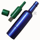 Movimentação colorida do polegar do USB da novidade do frasco de vinho