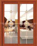 Раздвижная дверь перегородки офиса алюминиевая с шторками