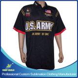 Camice della corsa della squadra di pozzo di motocross degli uomini su ordinazione personalizzati di sublimazione