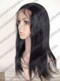 Pelucas brasileñas del frente del cordón de Wefted del pelo recto de la Virgen